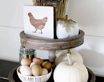 Farmhouse Mini Wood Signs - Chicken / Cow / Goat