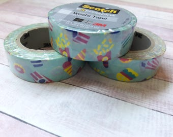 Popcorn & Ice Cream Washi Tape Back To School Supplies/Embellishments/Paper Craft Supplies