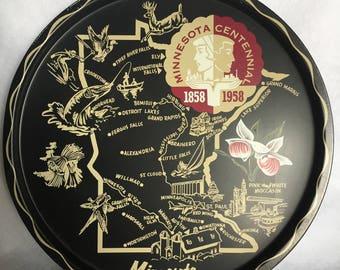 Minnesota Centennial Tin Tray