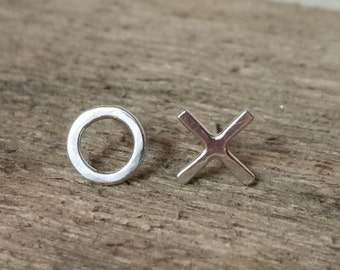 X and O Earrings Hugs and kisses