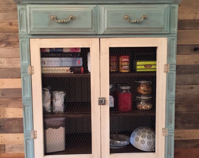 Vintage Duck Blue cabinet