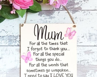 Gift for Mother - Mothers Day gift - Mum gift - Mum sign - Mum birthday gift - Gift for Mom - wedding gift - wedding gift for mum