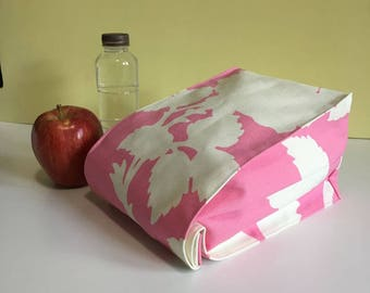 Pink Lunch Bag | Sandwich Bag | Modern Lunch Bag | Reusable Lunch Bag | Snack Bag | Pouch | LunchBag | Lunchbox | Lunch Box | Sandwich bag