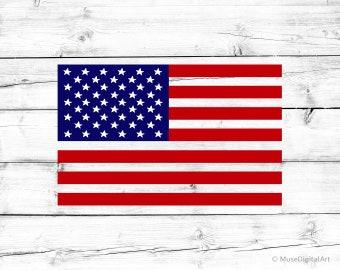 USA Flag Svg U.S. Flag Frame Svg Funny Creative American Flag Svg Blue Red United States Symbol Svg for Cricut & Silhouette Png