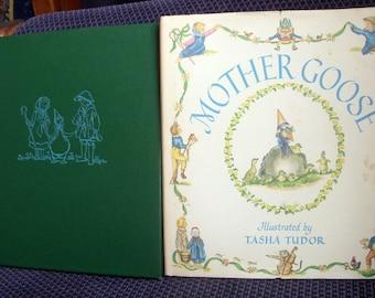 Mother Goose, Tasha Tudor, Dust Jacket, HB/DJ Vintage Childrens Hardback, Nursery Rhymes, Circa 1960's