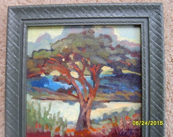 Original Oil Painting, Signed Oil, Tree Painting, Framed Oil Painting, Oregon  Artist