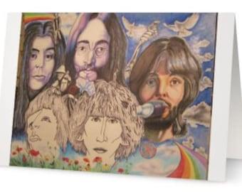 John, Yoko Ono greeting card