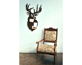Trophy Deer Cork Board, Bulletin / Message Board, a Functional Wall Decoration