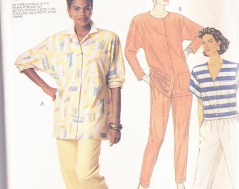 McCalls 3097 CLEARANCE Vintage Pattern Womens Tunic Tops and Pants in 3 Variations Size 6,8,10 UNCUT