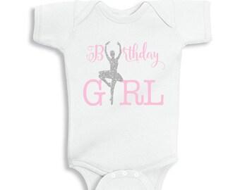 Birthday Girl Ballerina Bodysuit/T-Shirt