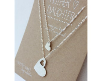 Mother Daughter Necklace Set - Mother's Day Jewelry Gift - necklace gift - gift for her - daughter gift - gift for mom - mother of the bride