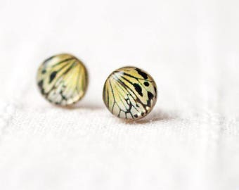 butterfly wing earrings studs, Mothers day gift earrings, Tiny Butterfly earrings, Gift for mom Butterfly jewelry, Butterfly stud earrings