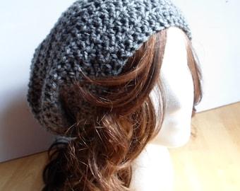 Slouchy Crochet Beanie- Crochet Hat- Boho hat- Stylish spring hat- Spring or winter Slouchy beanie- Winter Beanie, boho, bohemian style
