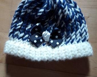 Navy blue baby Hat