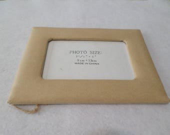 Paper mache frame, rectangle, 5 x 7 inches, for kids crafts