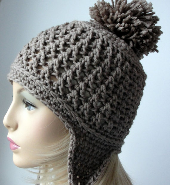 Crochet Pattern, Ear Flap Hat Pattern, Booth Bay Ear Flap Hat ...
