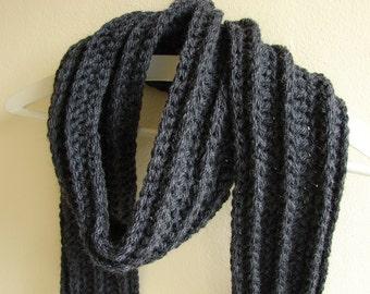 Crochet pattern chunky scarf | crochet mens scarf | crochet bulky scarf | mens winter accessory | chunky yarn pdf pattern 10 mm hook