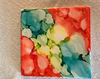 Ceramic tile coasters - Set of 4 - everyone is differnt