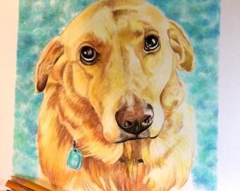 Portrait animalier personnalisé / animaux amoureux cadeau / Custom Portrait / dessin / Pet Memorial don de chien / dessin personnalisé