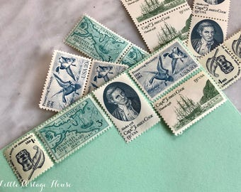 Old Nautical | Vintage Unused Postage Stamps | For 5 Letters | 50 Cents