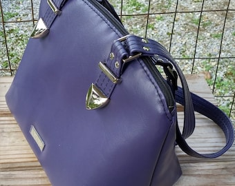 Vegan Leather Handbag, Purple Handbag, Lola Handbag, Swoon Lola, Faux Leather Purse, Purple Purse, Medium Size Purse