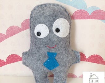 Felt Monster Tooth Fairy Pillow with Pocket
