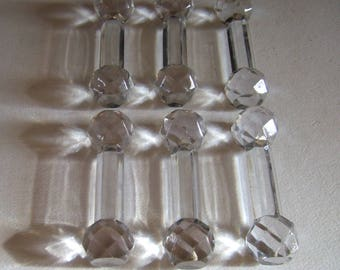 Antique French Set of 6 crystal knife rests circa 1930's