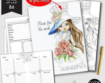 B6 size Weekly Printable, Weekly Plan Printable Planner Insert.  CMP-224.2