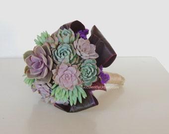 Wedding bouquet, Succulent bridal bouquet _ Caya