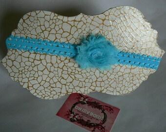 Bandeau Fleur Turquoise 6/12mois