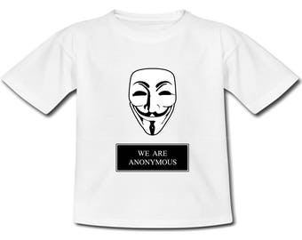 T-shirt kids We are anonymous - sizes baby and child