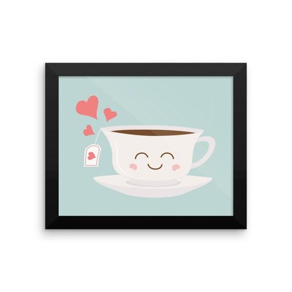 Happy Tea Framed Poster
