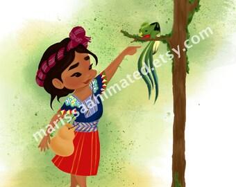 Quetzal Bird Moment