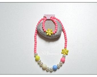 Necklace + kids elastic bracelet