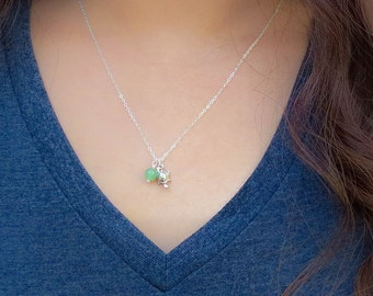 The Fertile Turtle, Fertility Necklace, turtle charm, sterling silver, comes with your choice fertility gemstone