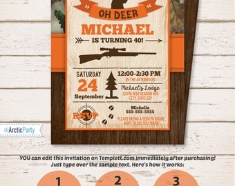 Hunting invitation etsy hunting party invitations hunting birthday party invitation hunting theme party invitation instant access filmwisefo Images