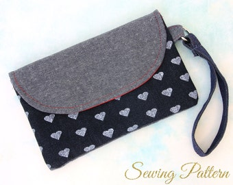 Clutch Purse Pattern, Clutch Pattern, Purse Pattern,  Envelope Clutch Pattern, Wristlet Clutch Pattern, Sewing Pattern PDF, HANDY (B906)