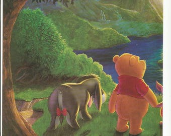 1997 Advertisement 2 Page Pooh's Grand Adventure Extraordinary Tigger Piglet Eeyore Rabbit In Search Of Christopher Robin Wall Art Decor
