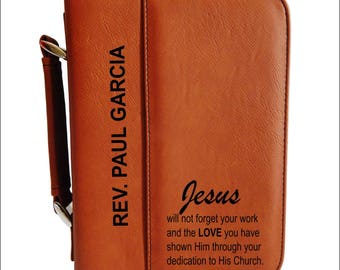 Gifts for Clergy - Thank You Gift to Priest - Reverend Appreciation Bible Case -  Fathers Day Gift from Church, BCL040