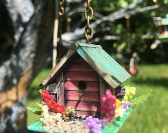 Miniature Country Birdhouse 1:12 Scale Dollhouse Accessory