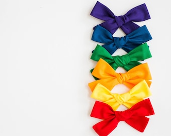 Solid Primary Color Bow and Headband