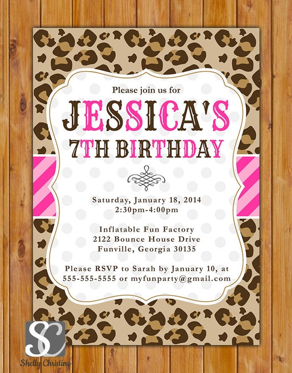 Cheetah party invitations image collections invitation templates cheetah party invitations stopboris Images