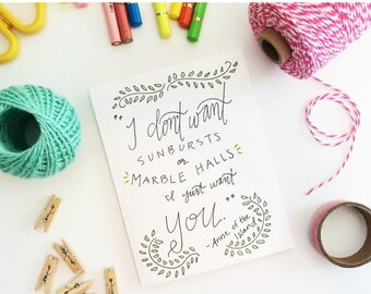ON SALE Wedding Card - Anne of Green Gables - greeting card - handmade