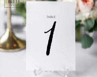 Printable table numbers set - Bailey collection