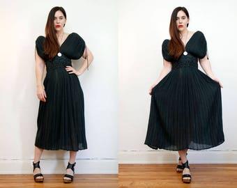 Vintage Indian  Grecian  Backless Cotton Gauze Dress Boho Dress Hippie Dress Ethnic Gauze Cotton Dress 70s