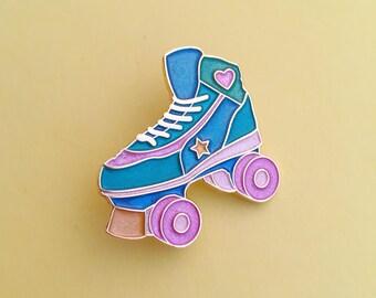 Roller Skate Pastel Pearl Enamel Pin