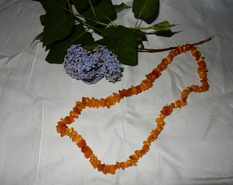 Swedish vintage amber necklace / lovely colours / hand picked in the south part of Sweden
