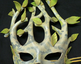 Birch Tree Leather Mask