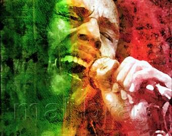 Bob Marley,  print, poster.