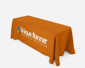 Table Throw, Full Color Custom Print, Trade Show, 6ft (closed back)